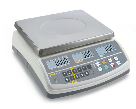 Price computing scale with type approval 0,005 kg: 0,01 kg : 15 kg: 30 kg